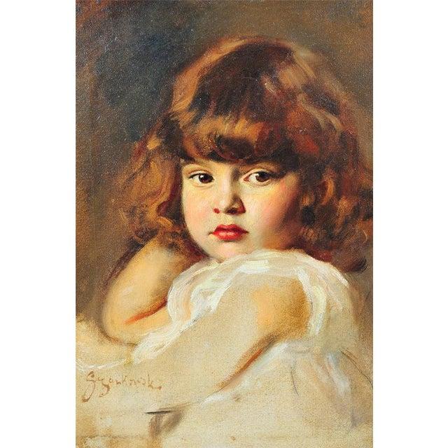 "Image of Szankowski ""Portrait Beautiful Girl"" Oil Painting"