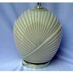 Image of Art Deco Hollywood Regency Glass Shell Lamp