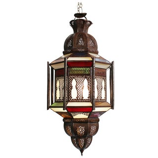 Moroccan Stained Glass Lantern