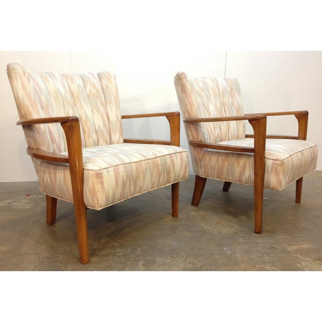 Heywood-Wakefield Solid Maple Armchairs - A Pair - Image 2 of 5