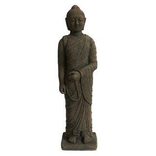 Black Stone Standing Monk