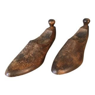 Antique Cobbler's Wooden Shoe Forms - A Pair