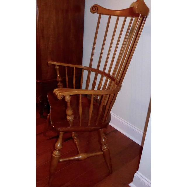 Ethan Allen Windsor High Back Arm Chair - Image 4 of 10