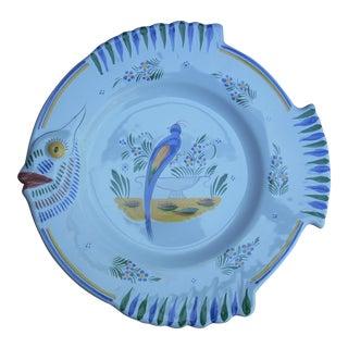 Henriot Quimper Fish Plate