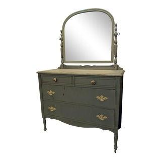 Distressed Blue Vintage Dresser