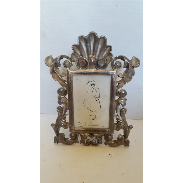 French Metal Picture Frame - Image 2 of 3