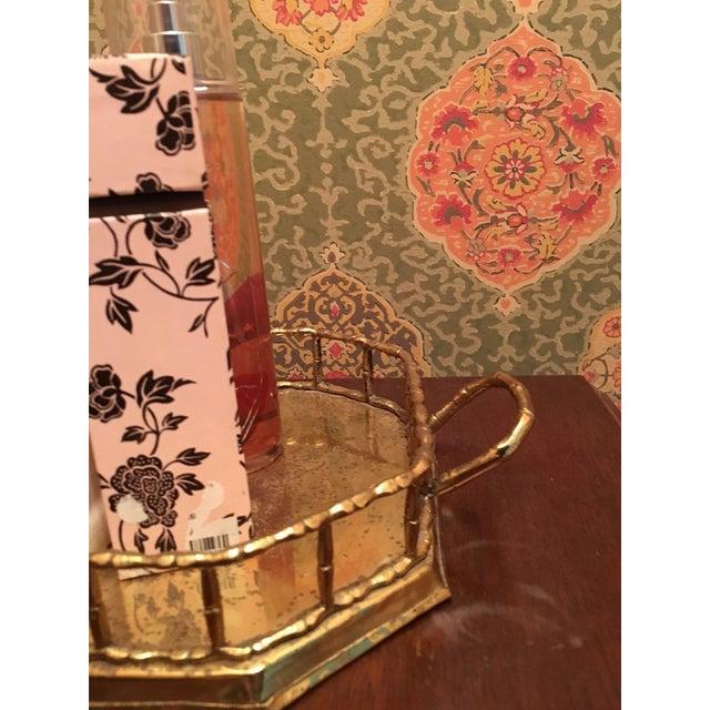 Hollywood Regency Bamboo Brass Tray - Image 5 of 5
