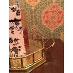 Image of Hollywood Regency Bamboo Brass Tray