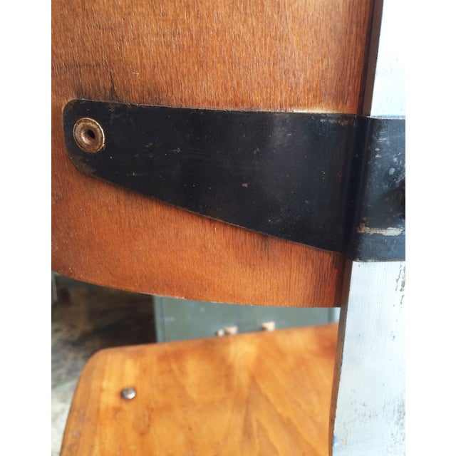 Vintage French Industrial Factory Stools - 4 - Image 9 of 10