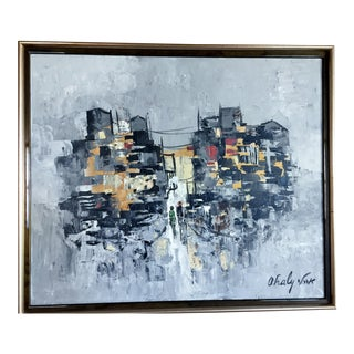Mid-Century Modern Abstract Original Signed Painting