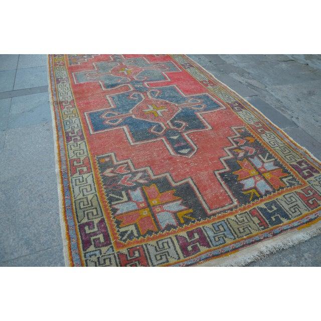 Antique Turkish Oushak Rug - 4′ × 8′1″ - Image 3 of 7