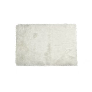 Hudson  Off White Faux Sheepskin Rug - 2' x 3'