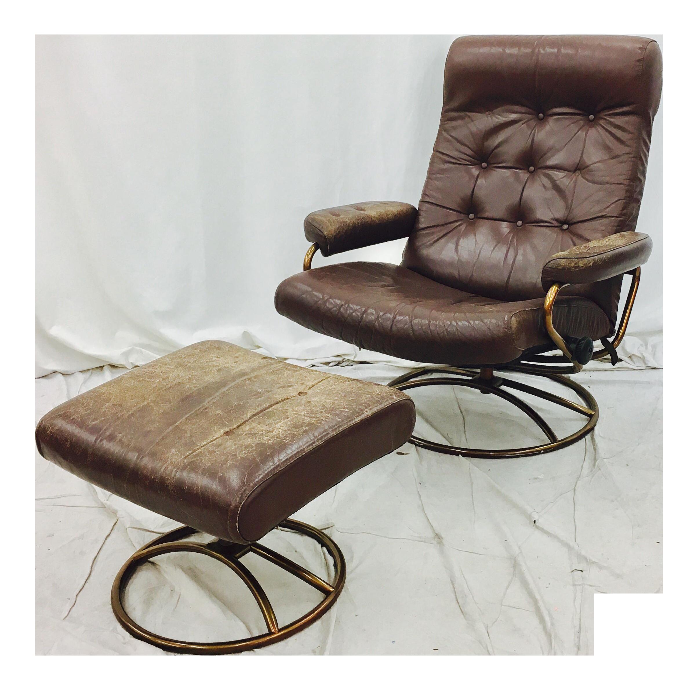 Good Vintage Mid Century Modern Ekornes Chair U0026 Ottoman