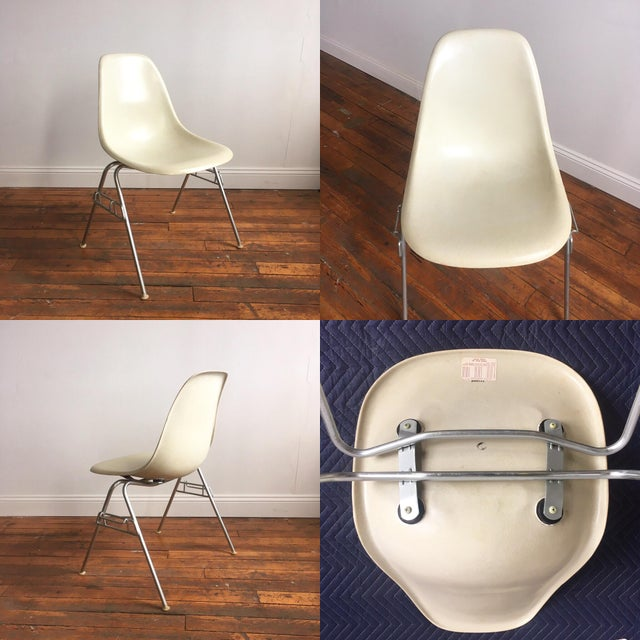 Vintage Herman Miller Eames Fiberglass Shell Chairs - Set of 4 - Image 7 of 10