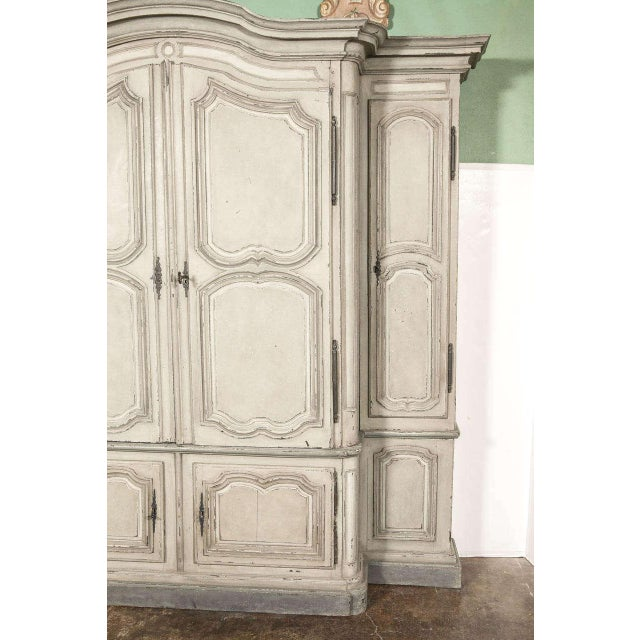 18th Century French Louis XIV Painted Buffet Deux Corps - Image 10 of 10
