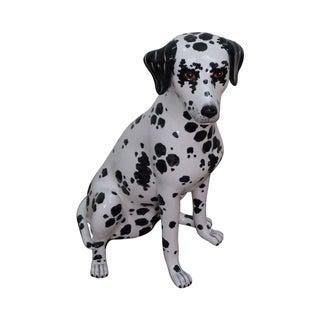 Vintage Italian Pottery Dalmatian Dog Statue