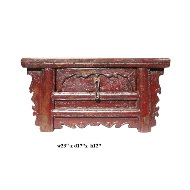Chinese Old Rustic Small Low Chest Table - Image 6 of 6