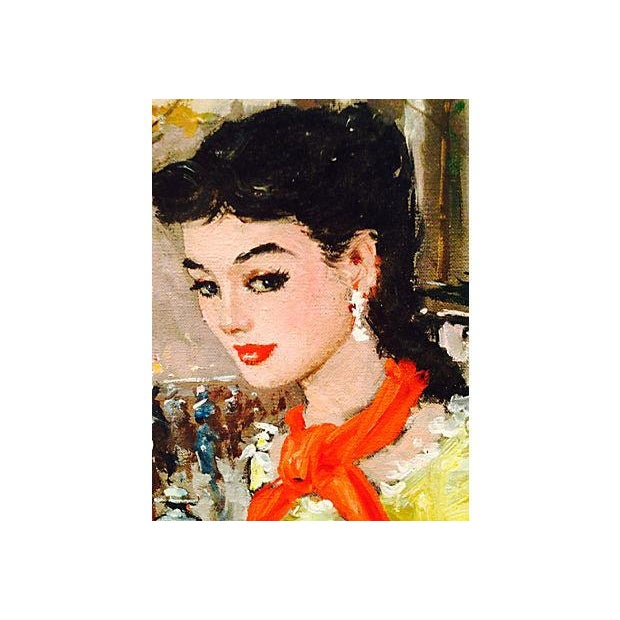 1950's Gerome-Signed Le Madeliane Oil Painting - Image 5 of 6