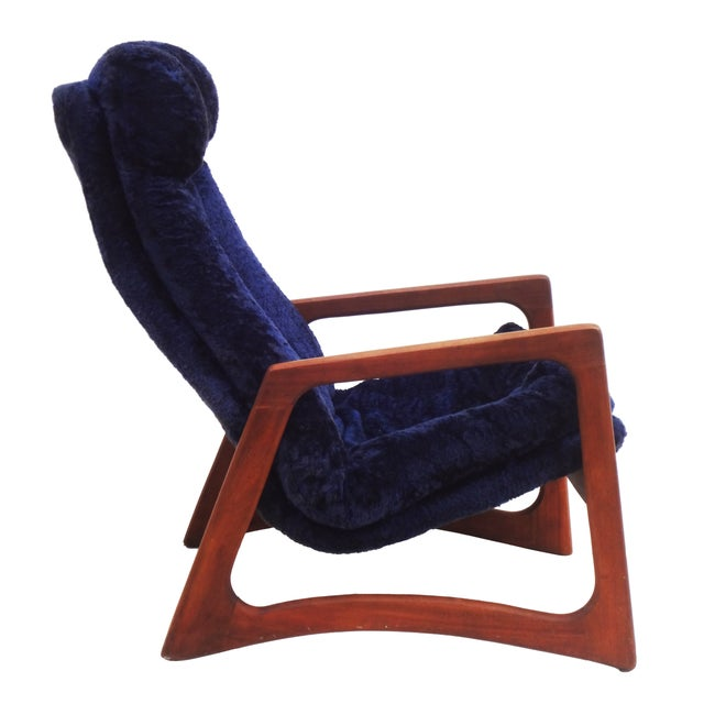 Adrian Pearsall for Craft Blue Lounge Chair - Image 7 of 10