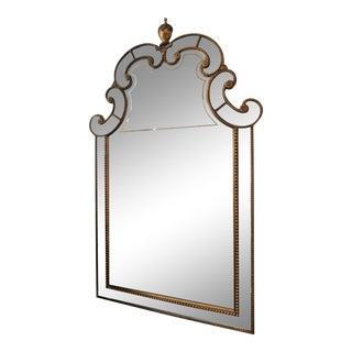 Lillian August Gold Nailhead Style Border Aged Mirror