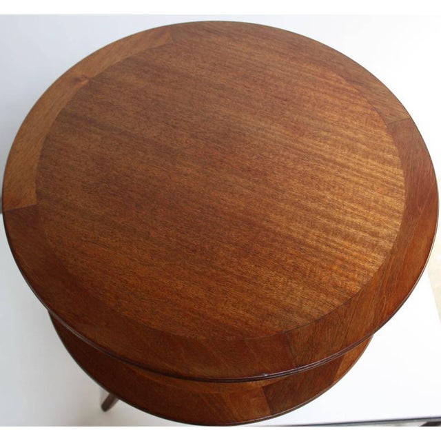 Edward Wormley for Dunbar, Two-Tier Mahogany Occasional Table - Image 6 of 10