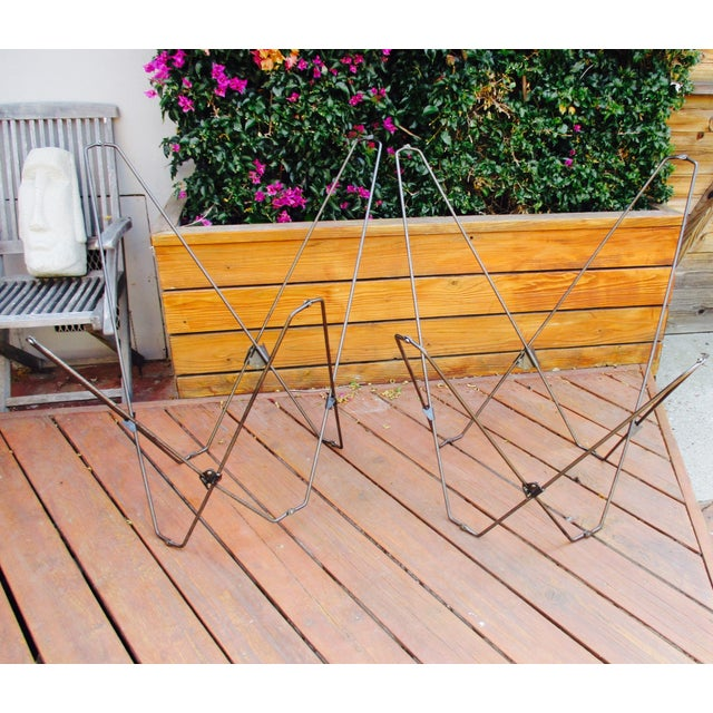 Image of Vintage Folding Butterfly Chair Frames - A Pair