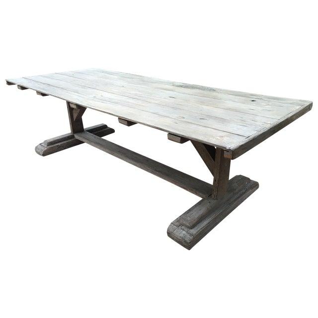 Antique Rustic Farm Table - Image 1 of 7