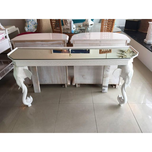 Gampel-Stoll White Elephant Console Table - Image 3 of 11