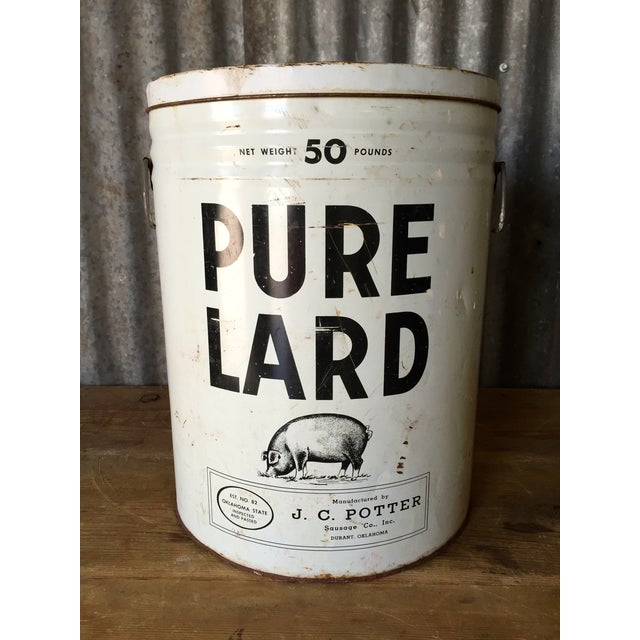 Vintage Lard Container From Oklahoma - Image 3 of 11