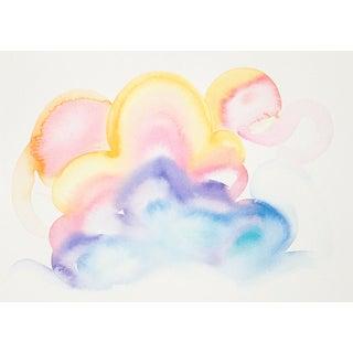 """Celia Agnes """"Clouds"""" Original Watercolor Painting"""