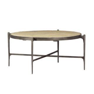 Iron & Wood Round Coffee Table