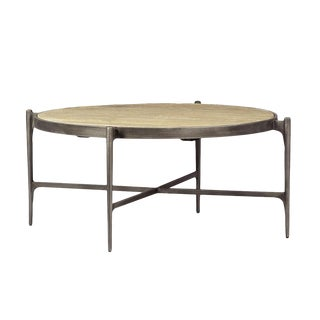 Iron & Wood Round Coffee Table
