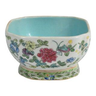 Vintage Floral Chinese Rice Bowl