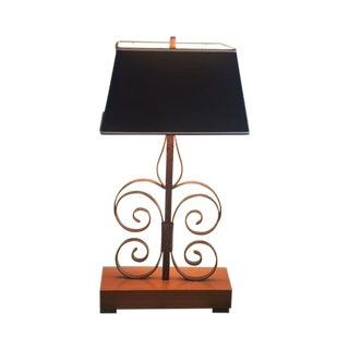 Vintage Spanish Revival Iron Swirl Table Lamp