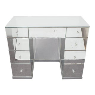 Hollywood Regency Mirrored Art Deco Desk