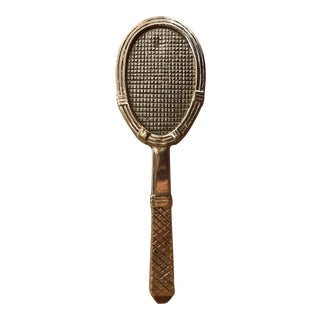 Vintage Brass Tennis Racket Door Knocker