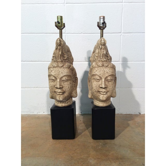 James Mont Buddha Lamps - A Pair - Image 4 of 11
