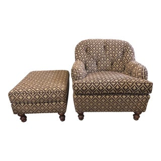 Woodmark by Howard Miller Chair & Ottoman - A Pair