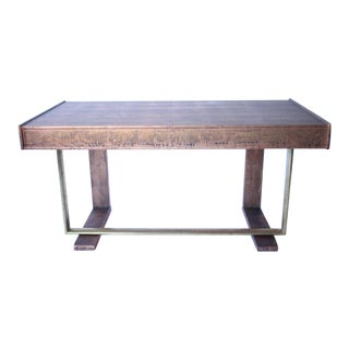 Patinated Copper Painted Mid-Century Desk