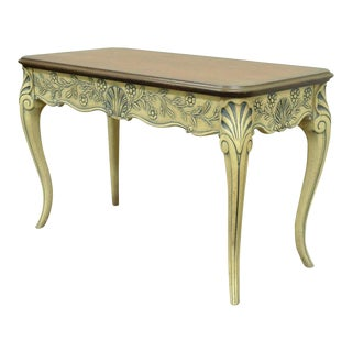 Vintage Louis XV French Country Style 2-Drawer Console Table