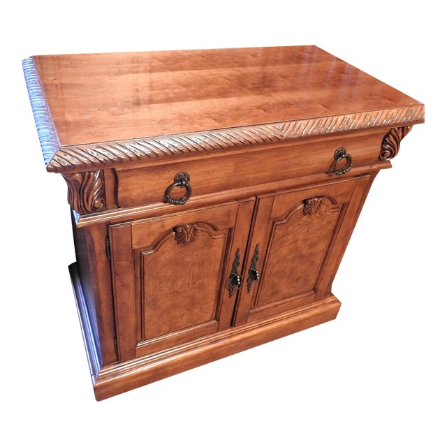 Luxury Cherry Nightstand (Part 6 of a 6-Piece Set) - Image 1 of 7