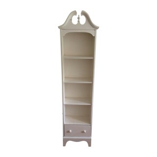 Wood White-Painted Bookshelf