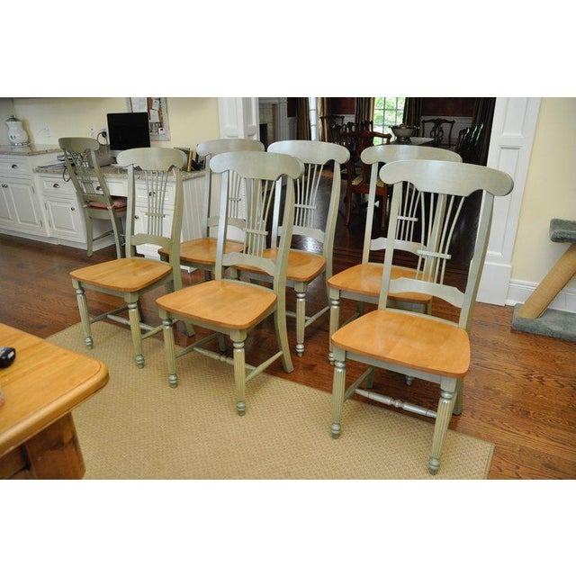 Sage Green Sheaf Dining Chairs Set Of 6 Chairish