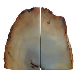 Vintage Agate Bookends - A Pair