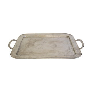 Silverplated Metal Tray with Handles