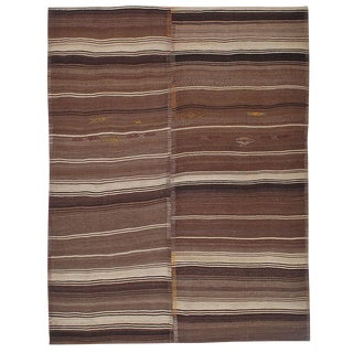 Banded Kilim in Two Panels