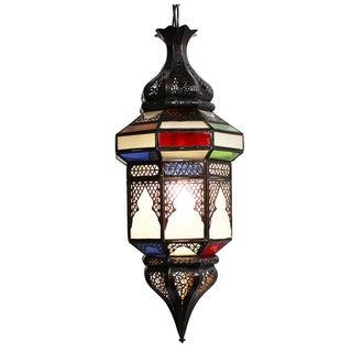 Moroccan Glass Colored Lantern