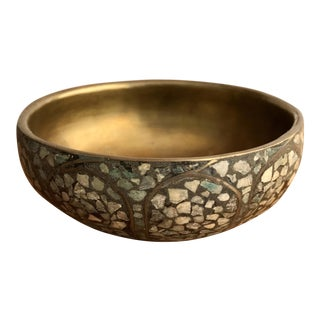 Ornate Brass Trinket Bowl
