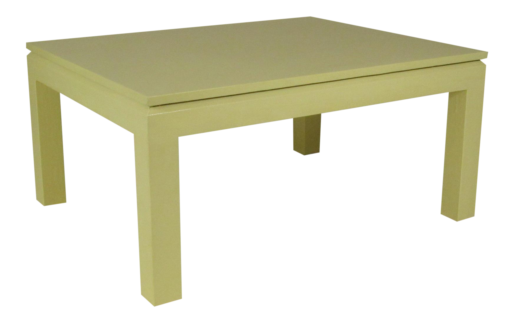 Custom Linen Wrapped Coffee Table   Image 1 Of 8