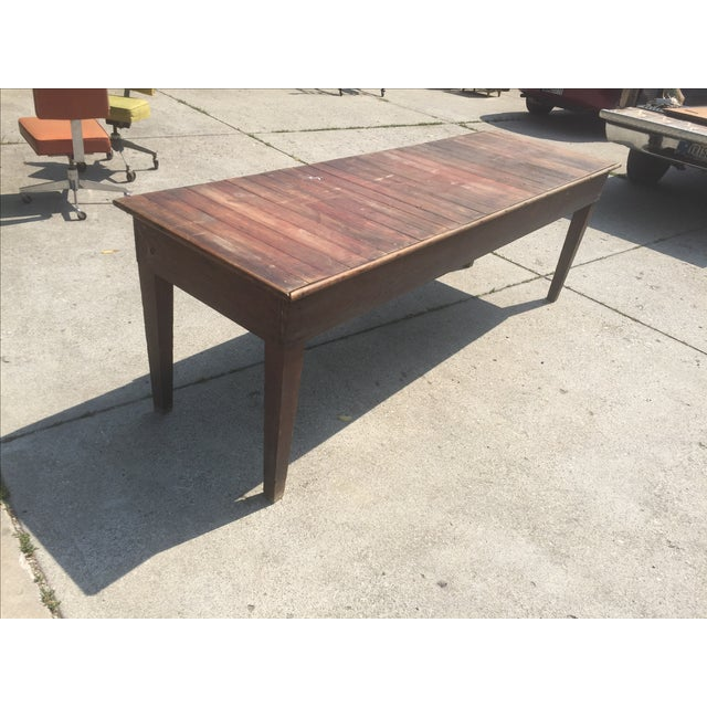 Antique Farmhouse Dining Table - Image 2 of 4